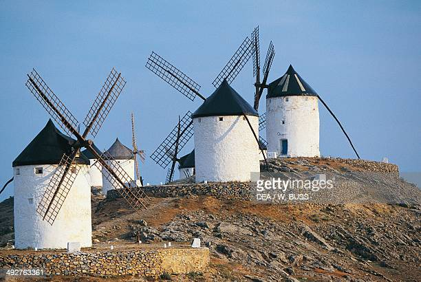 Windmills of Consuegra where the scene of Don Quixote's fight against the windmills is set CastillaLa Mancha Spain