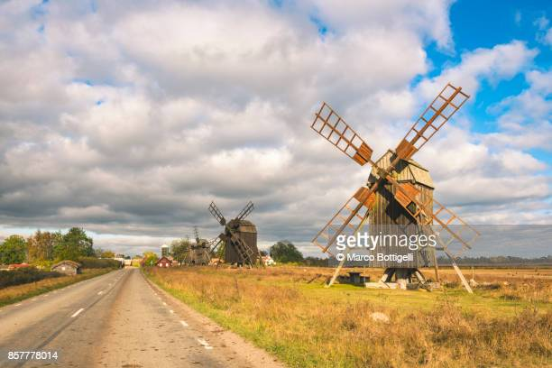 Windmills, Oland island, Sweden.