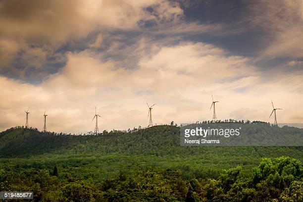 windmills on a hills - アンドラプラデシュ州 ストックフォトと画像