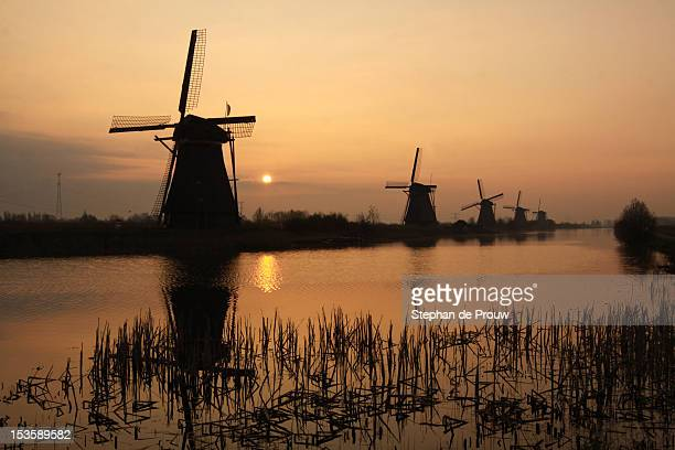 windmills - stephan de prouw stock pictures, royalty-free photos & images