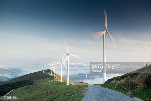 windmills - sustainable energy stock pictures, royalty-free photos & images