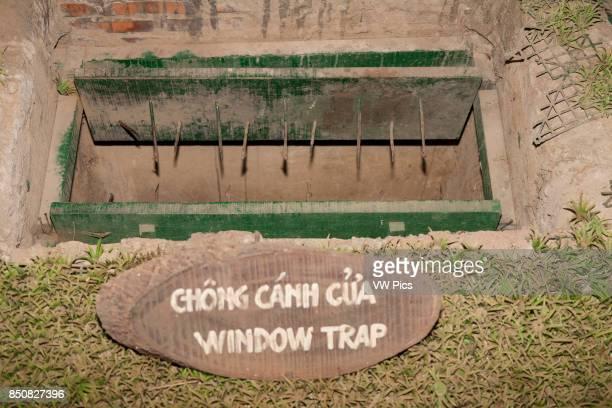 A window booby trap at Ben Dinh Cu Chi near Ho Chi Minh City Vietnam