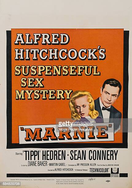 A US window card for Alfred Hitchcock's 1964 psychological thriller 'Marnie' starring Tippi Hedren and Sean Connery
