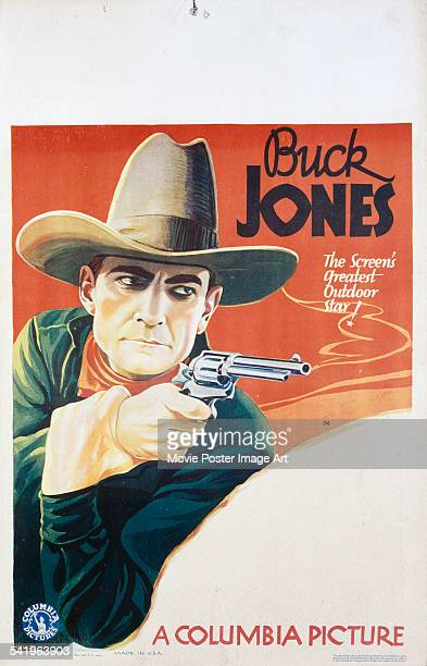 A US window card with the title space left blank promoting a film starring western actor Buck Jones 1937