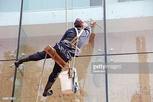 window cleaner - window cleaning stock photos and pictures