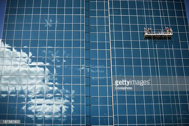 window cleaners. - window cleaning stock photos and pictures