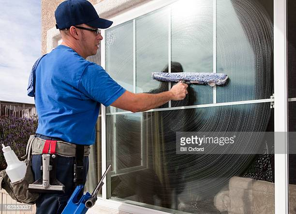 window cleaning - window cleaning stock photos and pictures
