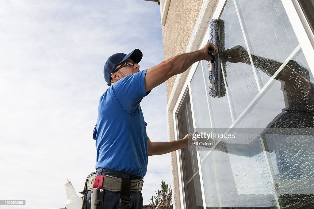 Window Cleaning : Stock Photo