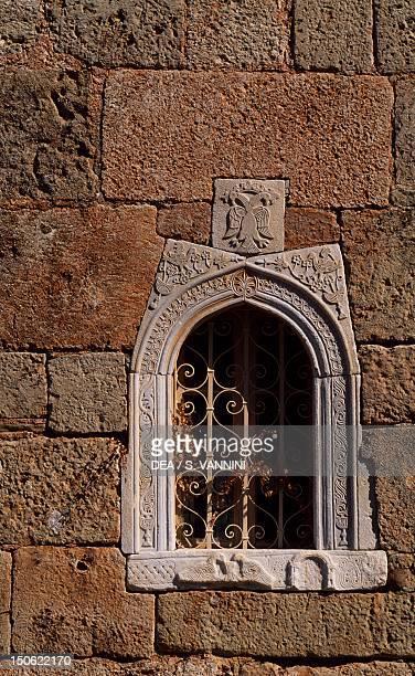 Window detail from Ayos Spyridon church Kardanyli Greece