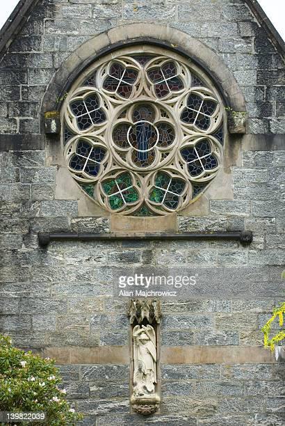 Window detail of church near Glenfinnan, Scotland, UK