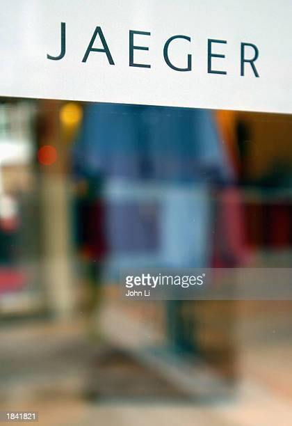 A window display of a Jaeger clothing store in Knightsbridge is shown March 11 2003 in London Entrepreneur Harold Tillman bought the Jaeger group's...