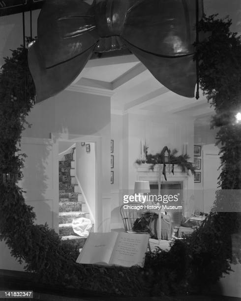 Window Display of Santa Claus at Marshall Field Company 'Twas the night before Christmas Chicago Illinois December 2 1944