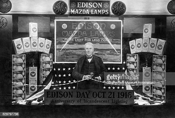 Window Display Promoting Edison Day 1916