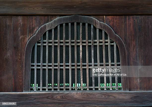 Window in a daitokuji temple kansai region kyoto Japan on May 26 2016 in Kyoto Japan