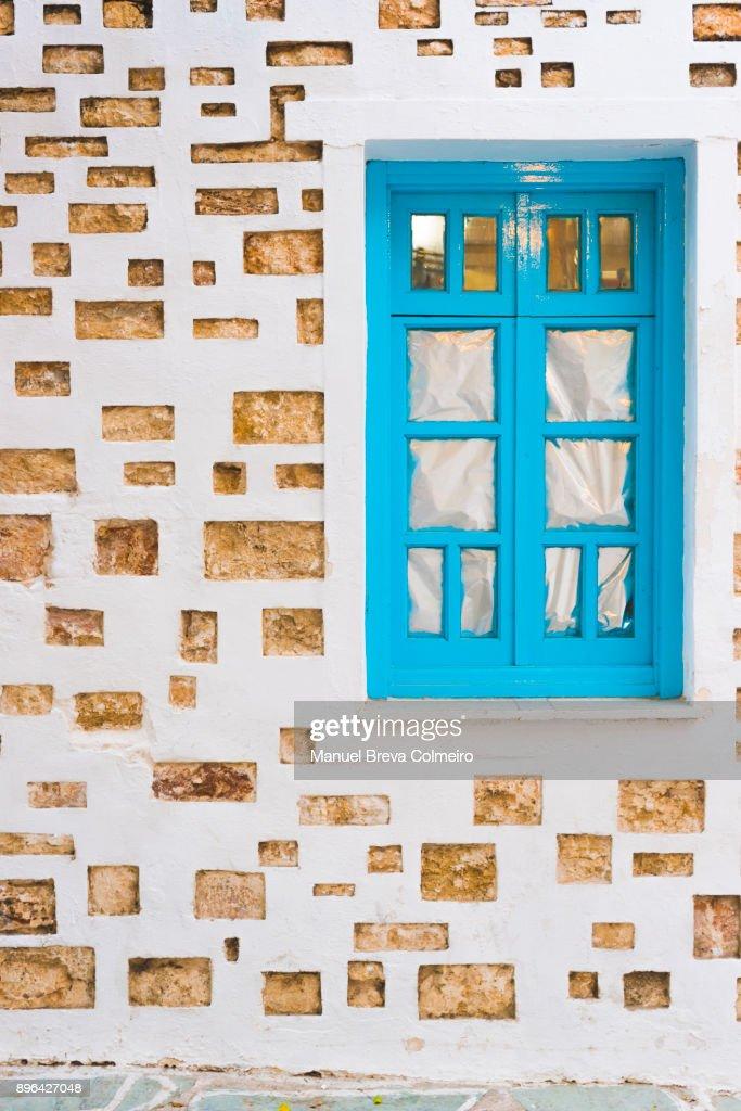 Window in Greece : Stock Photo