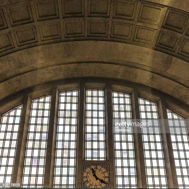 Window in the Trainstation 'Badischer Bahnhof' in Basel, Switzerland