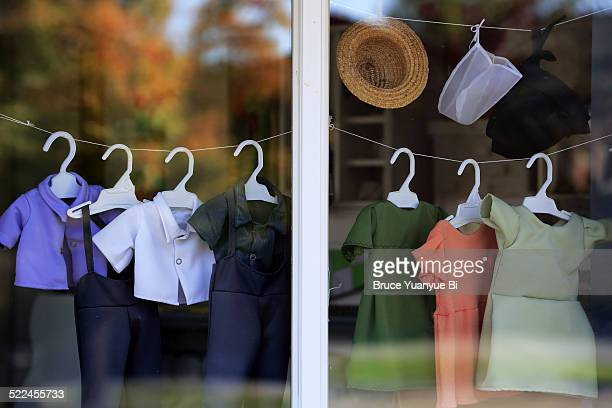 Window of an Amish shop
