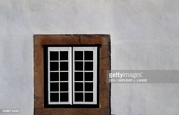 Window of the Solar de Mateus or Mateus Palace residence of the Counts of Vila Real Vila Real Norte Portugal 18th century