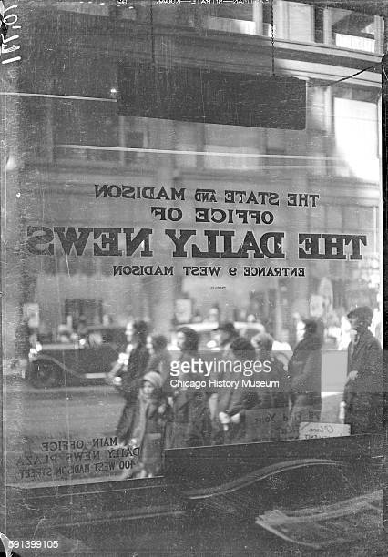 A window of The State and Madison Office of The Daily News Chicago Illinois circa 1933 From the Chicago Daily News collection