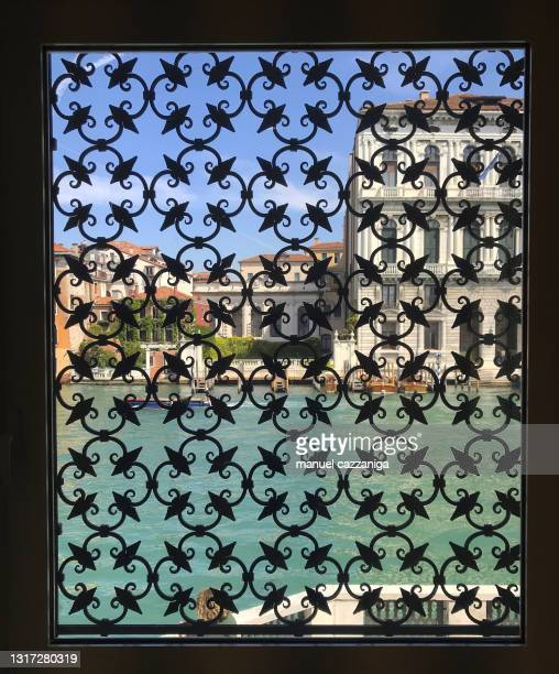 window on canal grande, venice, italy - venice italy stock pictures, royalty-free photos & images