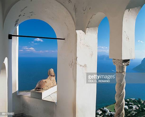 Window overlooking the sea Villa San Michele Anacapri Capri Campania Italy