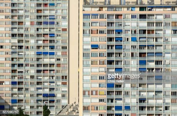 Window Patterns of Apartment Block Marseille