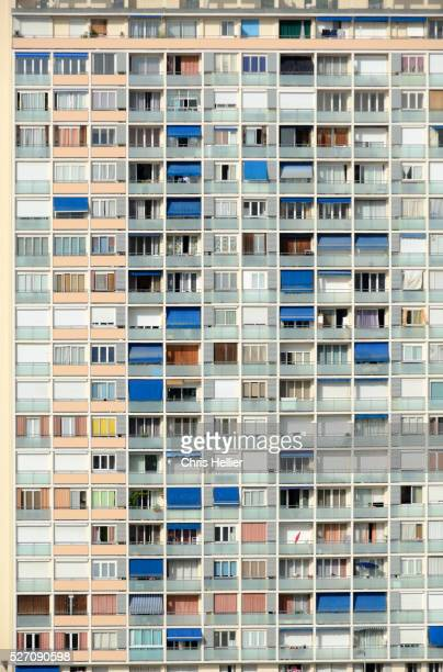 Window Patterns of Apartments or Tower Block Marseille France