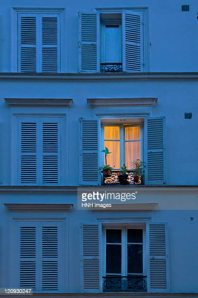 window - paris night stock pictures, royalty-free photos & images