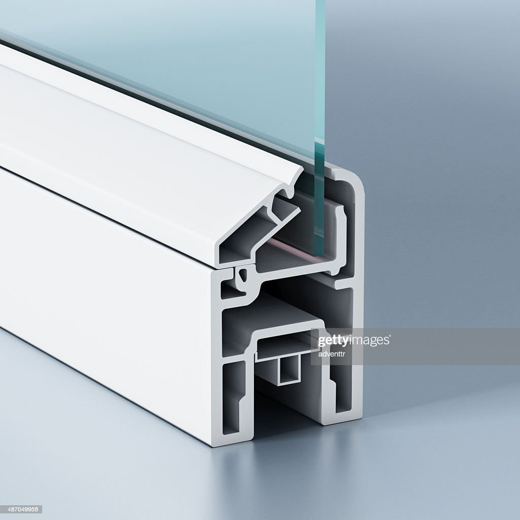 PVC window profile : Stock Photo