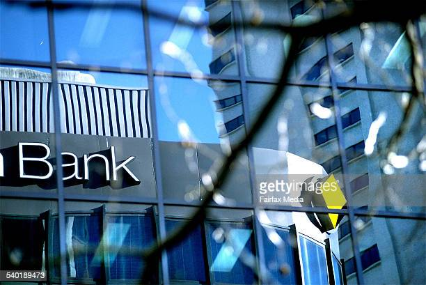 Window reflection of a commonwealth bank