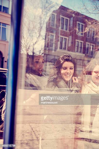 """window reflection of women shopping in the city. - """"martine doucet"""" or martinedoucet stock pictures, royalty-free photos & images"""