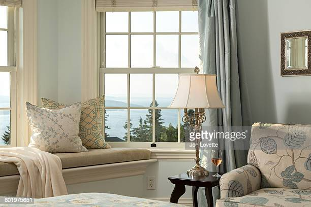 window seat and view - moosehead lake stock photos and pictures