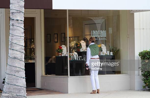 Window shopping on Worth Avenue, Palm Beach, Florida