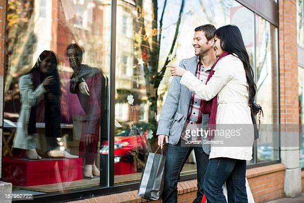 Window shopping.