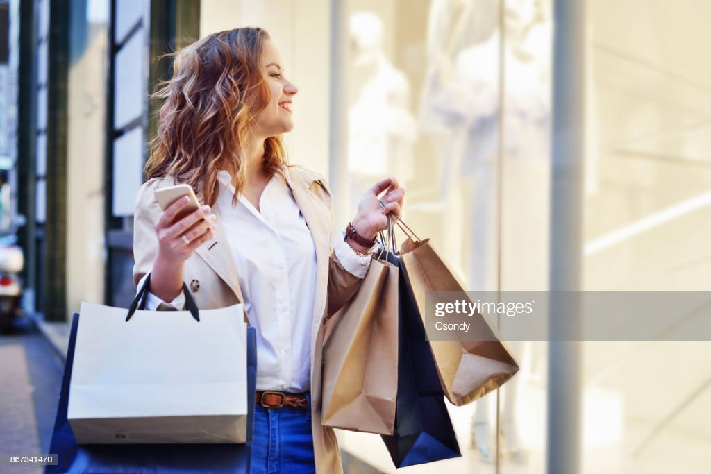 Window shopping : Stock Photo