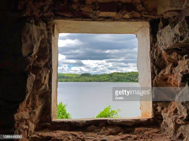 window to a beautiful dam - sorocaba stock pictures, royalty-free photos & images