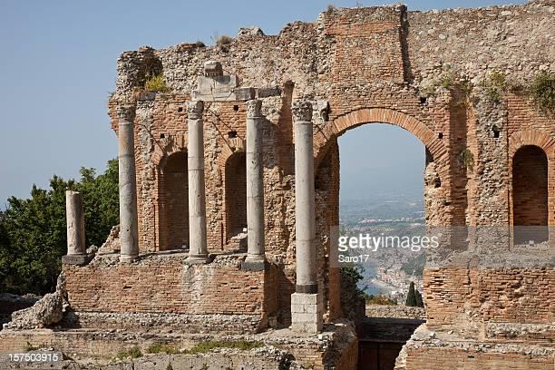 window to giardini-naxos, sicily, italy - giardini naxos stock pictures, royalty-free photos & images