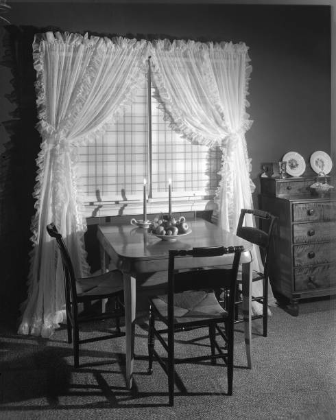 Window Treatments In Dinette & Bedroom Settings At Marshall Field ...