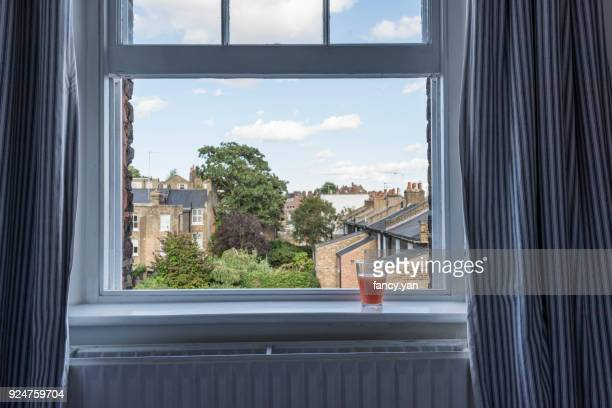 window view in the bedroom - looking through window stock pictures, royalty-free photos & images