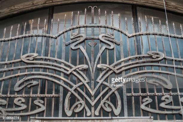 Window with art nouveau grille, Cairo, Egypt