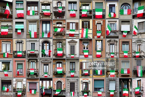 Windows and tricolor flags
