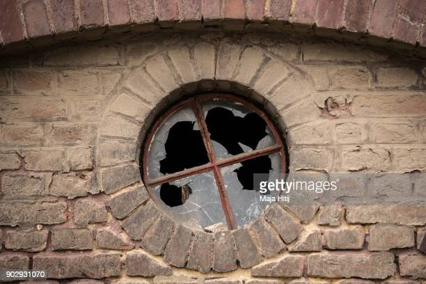 Windows are broken in an abandoned house on January 9 2018 in Immerath Germany The village of Immerath will be completely razed in order to make way...