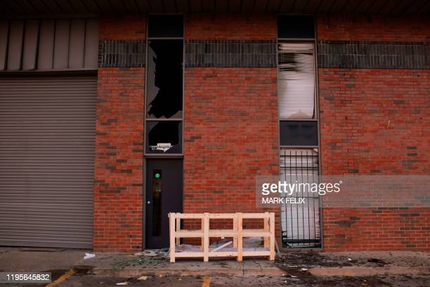 Windows are shattered after after an explosion at a northwest Houston Texas manufacturing business on January 24 2020 A large explosion shook Houston...
