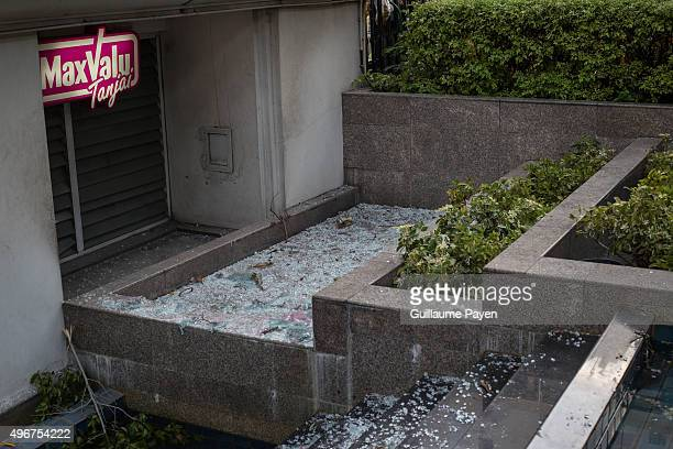 Windows debris due to the bomb who exploded outside a religious shrine in central Bangkok, Thailand on August 18, 2015. The death toll rise to more...