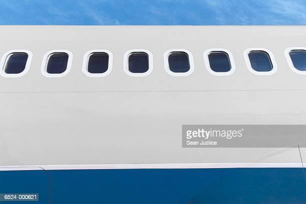Windows in Airplane Fuselage