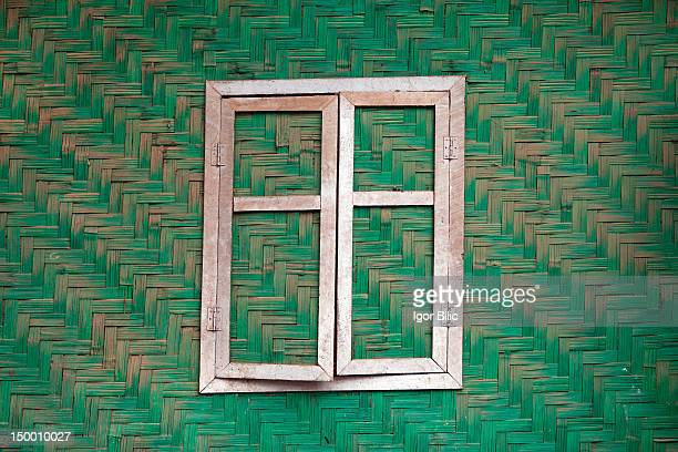 Windows in burmese villages