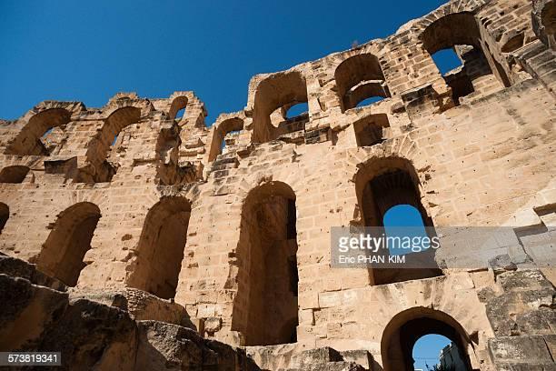 Windows in El Jem Amphitheatre, Tunisia