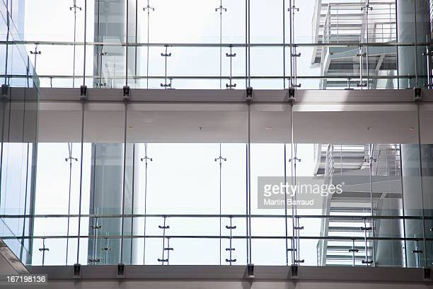 windows in modern office - pedestrian walkway stock pictures, royalty-free photos & images