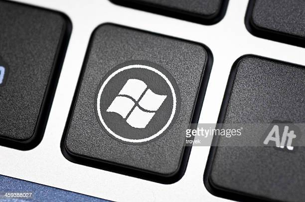 Windows logo on keyboard