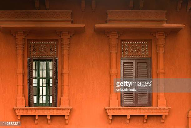 windows of a building, kolkata, west bengal, india - west bengal stock pictures, royalty-free photos & images